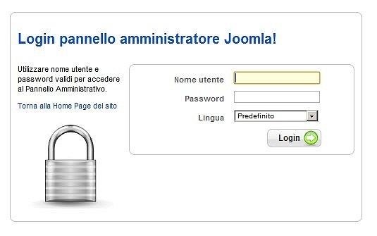 login amministrazione Joomla