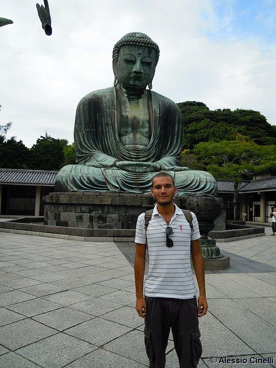 Io davanti al Daibutsu di Kamakura