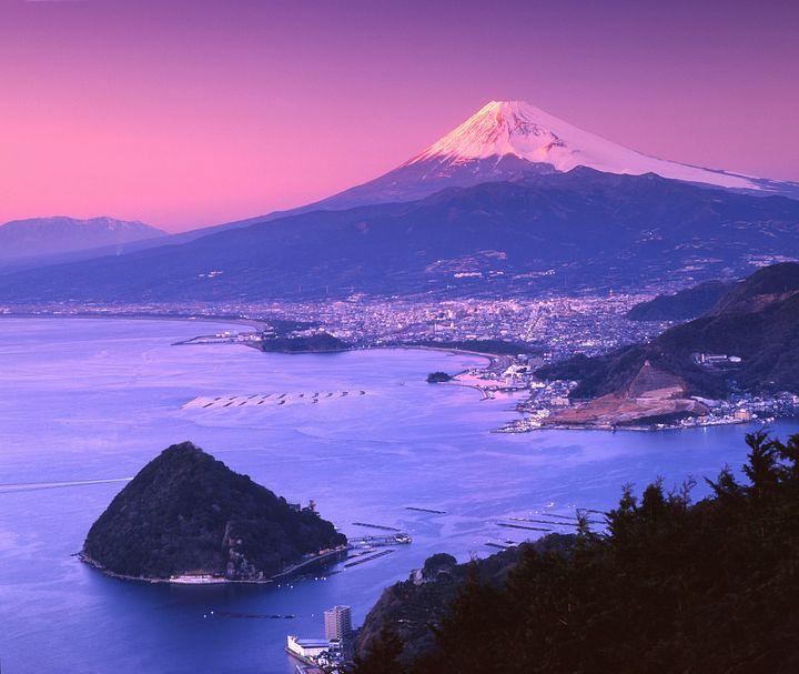 Il Fuji al tramonto